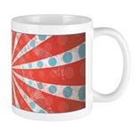 Red Blue Striped Patriotic Ceramic Coffee Mug