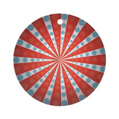 Red Blue Striped Patriotic Ornament (Round)