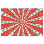 Red Blue Striped Patriotic Large Poster