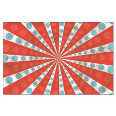 Red Blue Striped Patriotic Posters