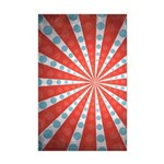 Red Blue Striped Patriotic Mini Poster Print