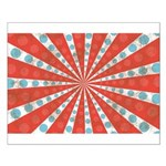 Red Blue Striped Patriotic Small Poster