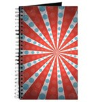 Red Blue Striped Patriotic Journal