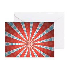 Red Blue Striped Patriotic Greeting Cards (Pk of 2