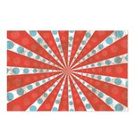 Red Blue Striped Patriotic Postcards (Package of 8