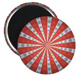 "Red Blue Striped Patriotic 2.25"" Magnet (100 pack)"