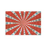 Red Blue Striped Patriotic Rectangle Magnet (100 p