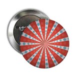 "Red Blue Striped Patriotic 2.25"" Button (10 pack)"