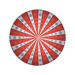 "Red Blue Striped Patriotic 3.5"" Button"