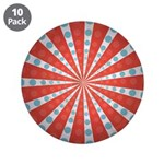 "Red Blue Striped Patriotic 3.5"" Button (10 pack)"