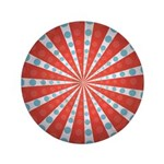 "Red Blue Striped Patriotic 3.5"" Button (100 pack)"