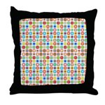 Funky Polka Dot Throw Pillow