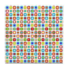 Funky Polka Dot Tile Drink Coaster