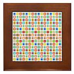 Funky Polka Dot Framed Tile