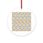 Funky Polka Dot Ornament (Round)