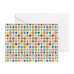 Funky Polka Dot Greeting Cards (Pk of 10)