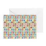 Funky Polka Dot Greeting Cards (Pk of 20)