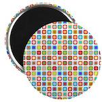 """Funky Polka Dot 2.25"""" Magnet (10 pack)"""