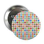 "Funky Polka Dot 2.25"" Button"