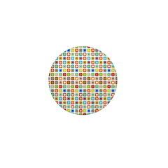 Funky Polka Dot Mini Button