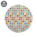 "Funky Polka Dot 3.5"" Button (10 pack)"