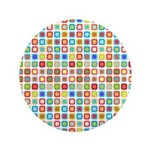 "Funky Polka Dot 3.5"" Button (100 pack)"