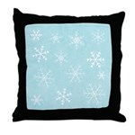 Contemporary Snowflake Throw Pillow