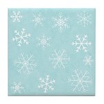 Contemporary Snowflake Tile Drink Coaster