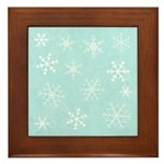 Contemporary Snowflake Framed Tile