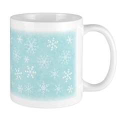 Contemporary Snowflake Ceramic Coffee Mug