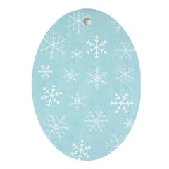 Contemporary Snowflake Oval Ornament