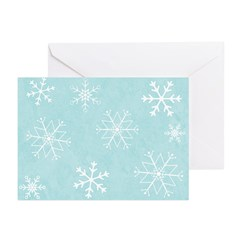 Contemporary Snowflake Greeting Cards (Pk of 20)