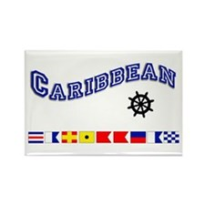 Caribbean Rectangle Magnet
