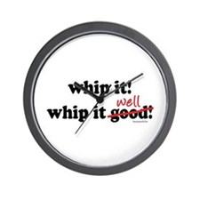 Whip It Well Wall Clock