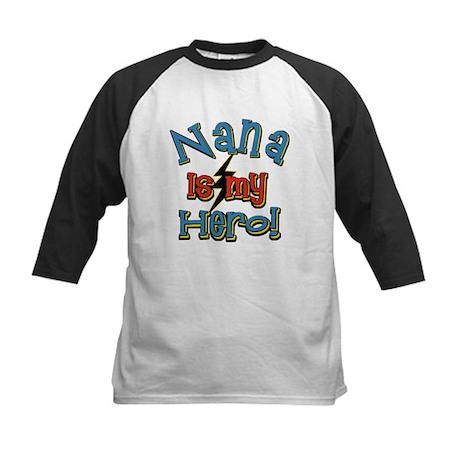Nana is my Hero! Kids Baseball Jersey