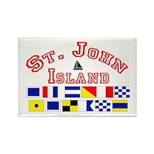 St.John Island Rectangle Magnet