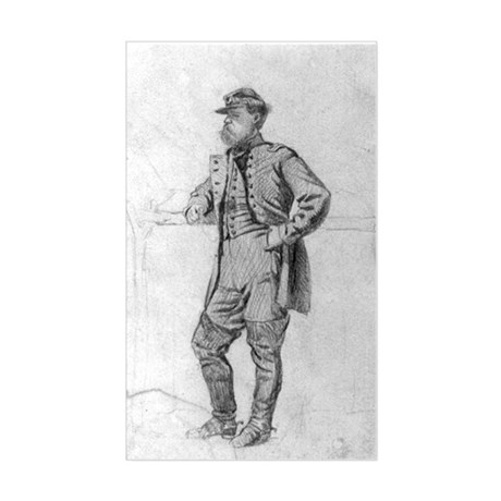 Infantry Colonel 1863 Rectangle Sticker