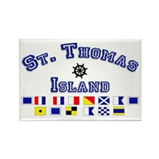 St. Thomas Island Rectangle Magnet