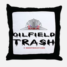 USA Oilfield Trash Throw Pillow