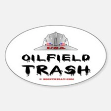 USA Oilfield Trash Oval Decal