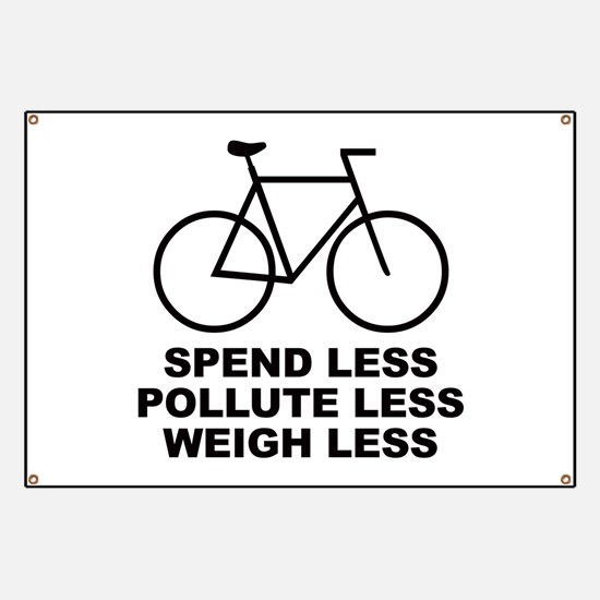 Spend less. Pollute less. Weigh less. Banner