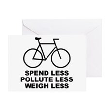 Spend less. Pollute less. Weigh less. Greeting Car