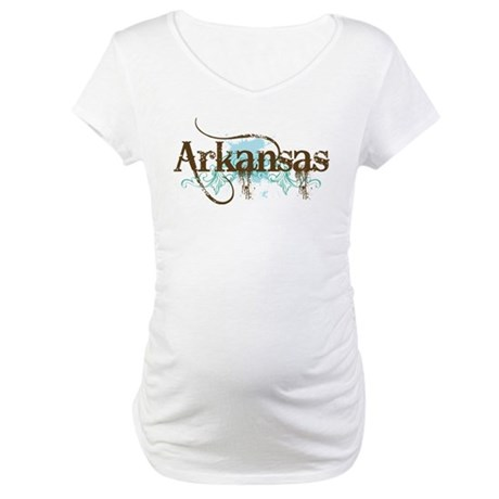 Arkansas Grunge Maternity T-Shirt
