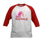 4x4 Girl Thing Kids Baseball Jersey