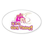 4x4 Girl Thing Oval Sticker