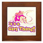 4x4 Girl Thing Framed Tile