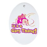 4x4 Girl Thing Oval Ornament