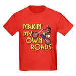 Own Roads - Dirt Bike Kids Dark T-Shirt