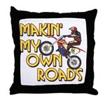 Own Roads - Dirt Bike Throw Pillow