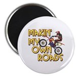 Own Roads - Dirt Bike Magnet